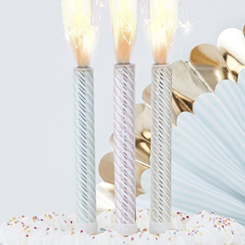 Ginger Ray Pastel Gold Birthday Cake Sparklers Fountains