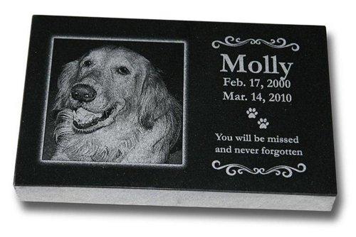 (Medium Standard Pet Grave Marker - Pet Headstones - Pet Gravestones - Pet Memorials)