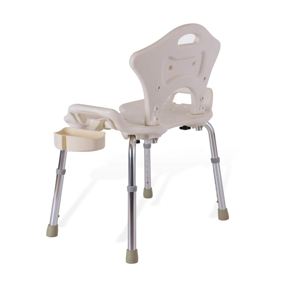 Elderly Shower Chair, Bathroom Anti-Skid Bath Stool with Shower Buckle and Backrest
