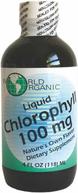 WORLD ORGANIC Liquid Chlorophyl, 0.02 Pound
