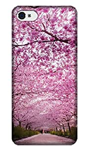 Sangu Cherry Pink Hard Back Shell Case / Cover for Iphone 4 and 4s