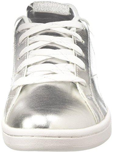 Metallic de White Royal Silver Plateado Reebok Niñas 000 Zapatillas para Tenis Complete CLN aWv1q
