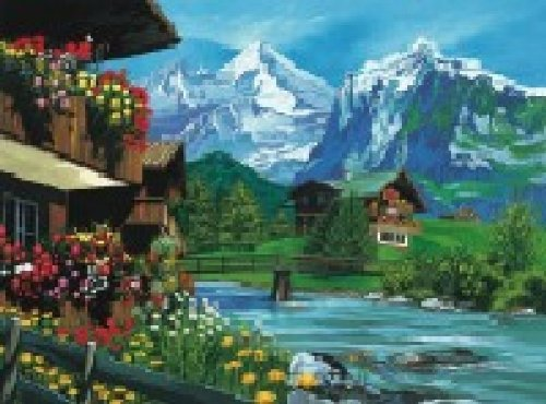 Paint by Numbers Paint Set - Mountain Chalet