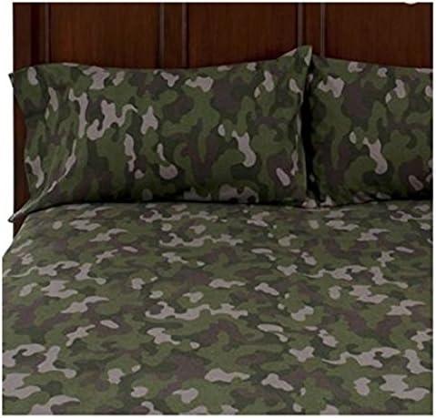 Juego de Camilla para masaje KING verde camuflaje ropa de cama para cama de matrimonio 100% algodón: Amazon.es: Hogar