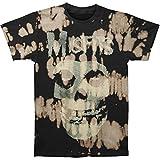 Misfits Mens Classic Fiend Skull Bleach Spots Mens T-shirt Black