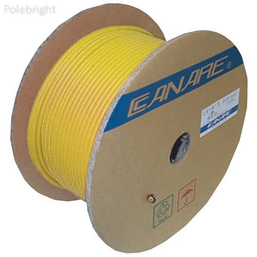L-4.5CHD Video Coaxial Cable (984.25', Yellow) - Polebright update by Polebright