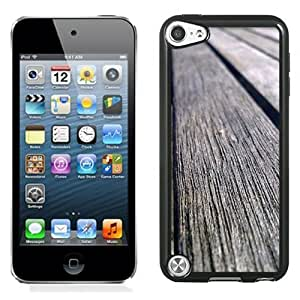 NEW Unique Custom Designed iPod Touch 5 Phone Case With Old Wood Planks_Black Phone Case