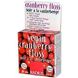 RADIUS Vegan Xylitol Antibacterial Cranberry Floss, 55-Yards (Pack of 6)