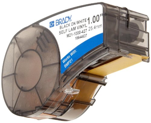 brady-m21-1000-427-14-length-1-width-b-427-self-laminating-vinyl-black-on-white-translucent-color-bm