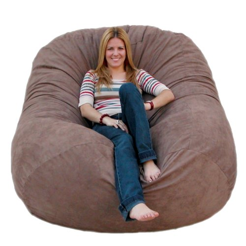 (Cozy Sack 6-Feet Bean Bag Chair, Large, Earth)
