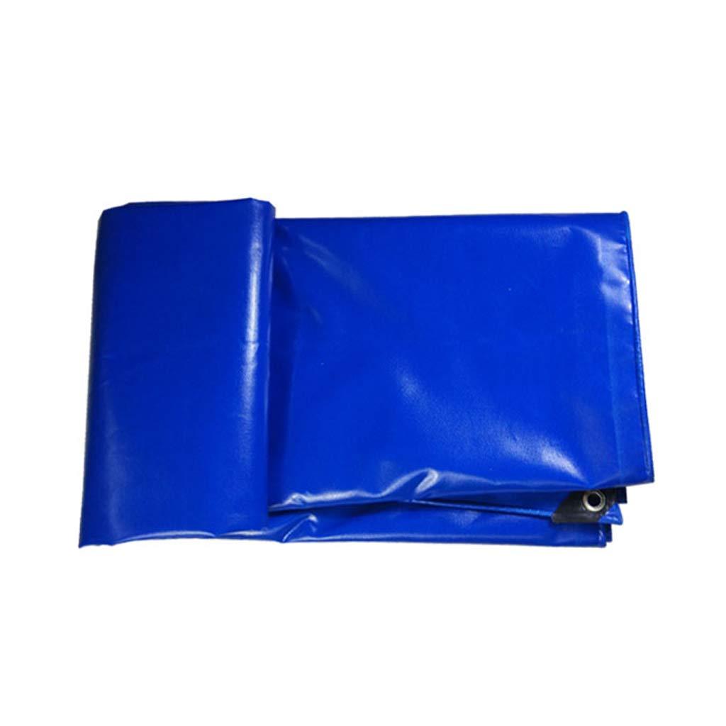 YEIUY Wasserdichte Plane - 100% regendichte, Blaue, hochdichte, Geflochtene Auto-Markise, Staub- und staubdicht im Freien, vielseitig verwendbar, mehrere Größen