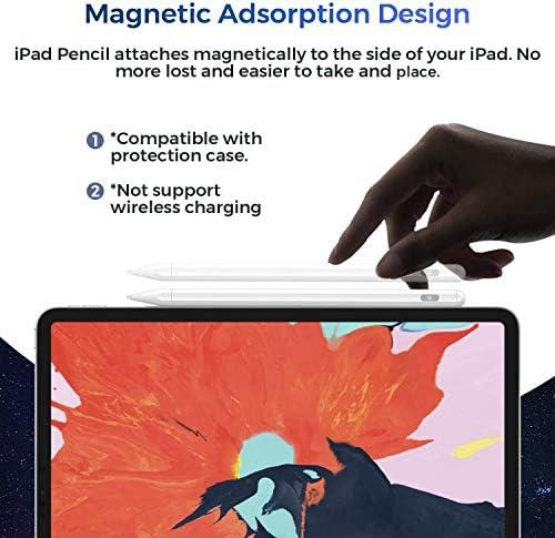 Lápiz capacitivo para iPad con rechazo de palma, (2018-2020) lápiz iPad con diseño magnético para Apple iPad, iPad (6/7 Gen)/iPad Pro (11/12.9 pulgadas)/iPad Mini Gen 5/iPad Air Gen 3 (blanco) 8