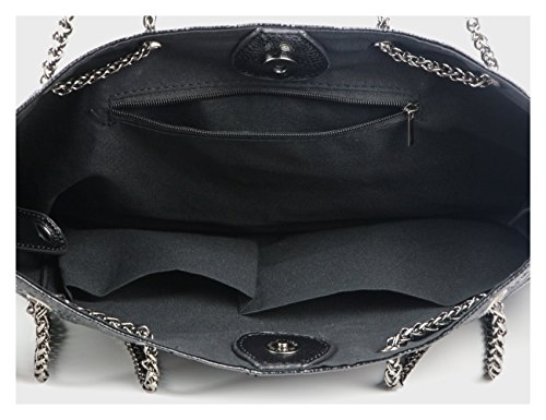 c3fcf84bf810 Jual Womens Skull Hobo Tote Bag Chain Shoulder Bag Gothic Handbag ...
