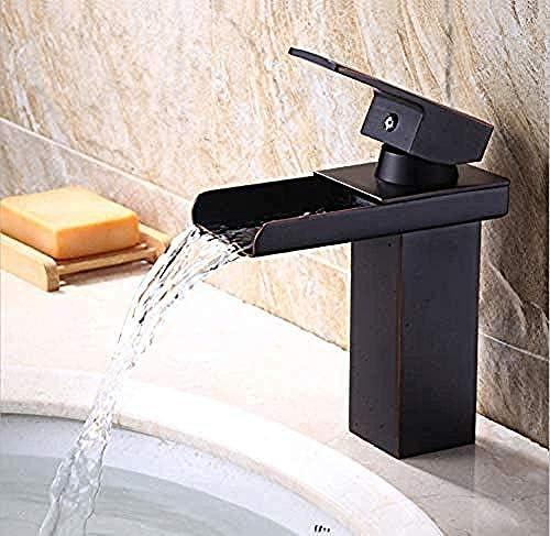 ZY-YY 現代のソリッドBrassbathroom流域の蛇口の滝の洗面台の蛇口温水と冷水をタップすると、タップ
