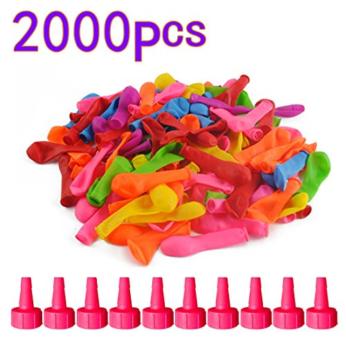 HMANE Water Balloons Toys Fight Games Summer Toy Water Launcher Water Bomb for Beach Party - (2000Pcs) by HMANE