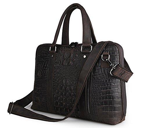 FRAZILL Herren Leder Aktentasche Herren Handtaschen Herren Umhängetasche Herren Laptop Tasche Hohe Qualität JM7307