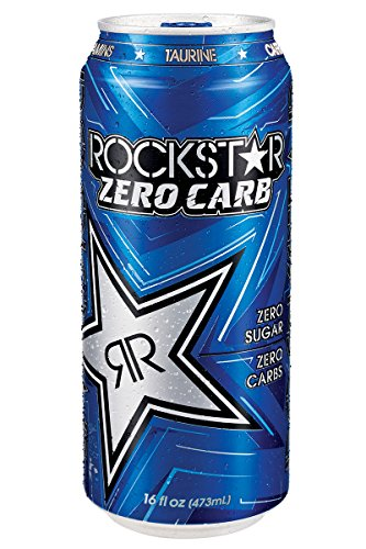 Ginseng Energy Drinks (Rockstar Zero Carb Energy Drink, 16-Ounce Cans (Pack of 24))