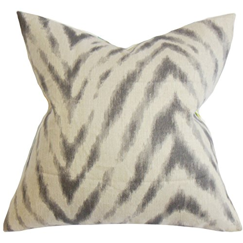 - The Pillow Collection Quay Zigzag Pillow, Gray