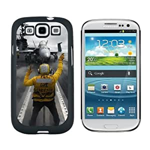 Aircraft Carrier Launch - Snap On Hard Protective Case for Samsung Galaxy S3 - Black