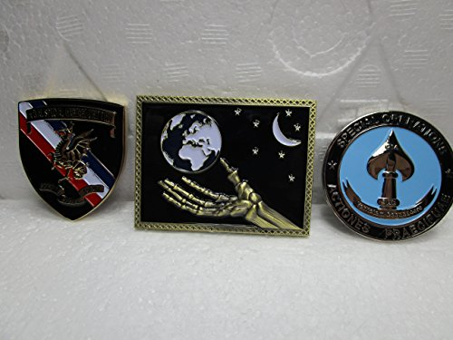 Set of 3 CIA Coins CIA FBI JSOC Special Operations CIA Seal Team VI Little Creek Seal Team Challenge Coins