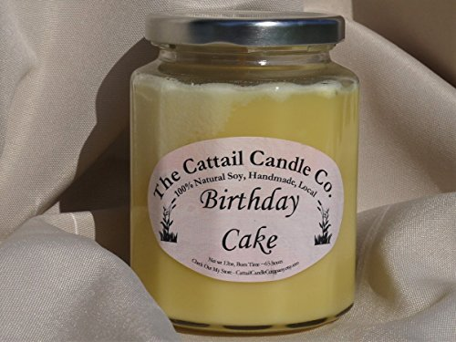 Candle Cattail (Birthday Cake - 100% Soy Candle, 12 fl oz)