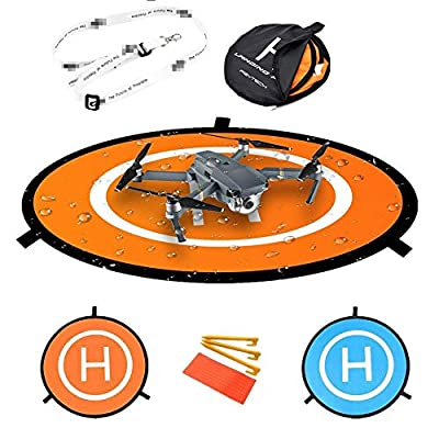 gouduoduo2018 75cm PGY RC Drone launch pad Quadcopter Helicopter Mini landing pad helipad Dronepad DJI Mavic phantom 2 3 4 inspire 1 protective Accessories by gouduoduo2018
