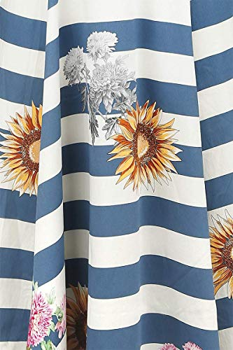 Azul blanco De Skyscraper Xl Longitud Sunflower amp;r London Media Blue Vestidos H Striped Pn6Bqwp