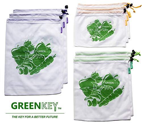 Eco Friendly Reusable Grocery, Fruit Vegetables, Snacks & Produce Bags Set of 9 Shanghai Zealeaf Industry Co. Ltd