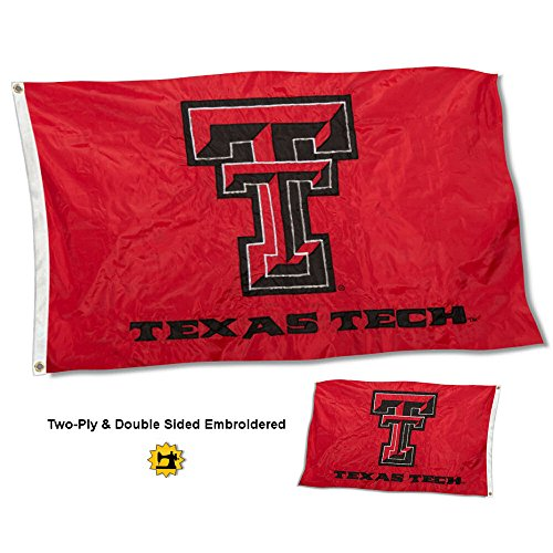 Tech Red Raiders 4 Light - College Flags and Banners Co. Texas Tech Red Raiders Double Sided Nylon Embroidered Flag