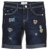 Little Potatoes Toddler Girls Super Stretchy Denim Shorts. W/Sewn Patches (4)