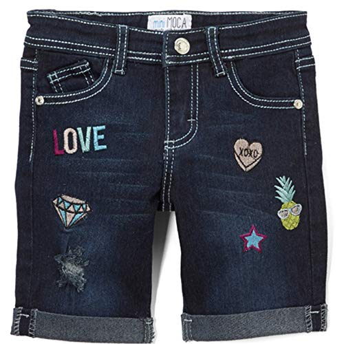 Little Potatoes Toddler Girls Super Stretchy Denim Shorts. W/Sewn Patches (4) by Little Potatoes (Image #1)