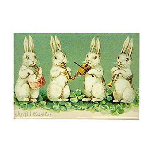 CafePress Vintage Musical Easter Bunnies Magnets Rectangle Magnet, 2