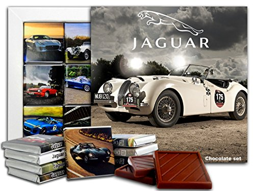 DA CHOCOLATE Candy Souvenir JAGUAR Chocolate Gift Set 5x5in 1 box (Clouds) (Xj Set Jaguar Type)