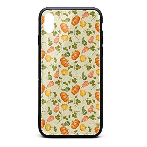 Cartoon Pumpkin Pumpkins Decorative Phone Case for iPhone X, Slim Protection Art Line Design Cell Phone Protective -