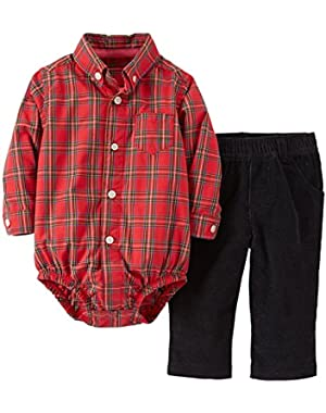 Baby Boys' 2 Piece Pant Set (Baby) - Red - 24 Months