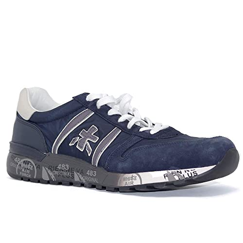 PREMIATA Scarpa Sneakers Uomo MOD.Lander Blu 41  Amazon.it  Scarpe e ... 2f1efca143e
