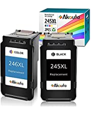 Akouta Remanufactured Ink Cartridges for Canon 245 and 246 Replacement PG-245XL CL-246XL PG-243 CL-244 for Canon PIXMA MX492 MX490 MG2920 MG2922 MG2420 MG2520 MG3029 IP2820 (1 Black 1 Tri-Color)