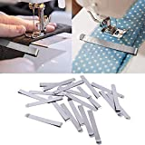Gotian 20Pcs Stainless Steel Hemming Clips 3 Inches Measurement Ruler Sewing Clips Silver