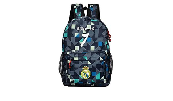 1xRonaldo Real Madrid 7 canvas Bag Casual luminous Backpack School Bag Xmas Gift