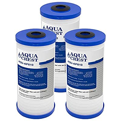 AQUACREST Whole House Water Filter, Compatible with 3M Aqua-Pure AP810, AP801, Whirlpool WHKF-GD25BB, 5 Micron (Package May Vary)(Pack of 3)