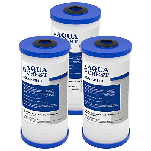 (AQUACREST AP810 Whole House Water Filter, Compatible with 3M Aqua-Pure AP810, AP801, Whirlpool WHKF-GD25BB, 5 Micron (Pack of 3))