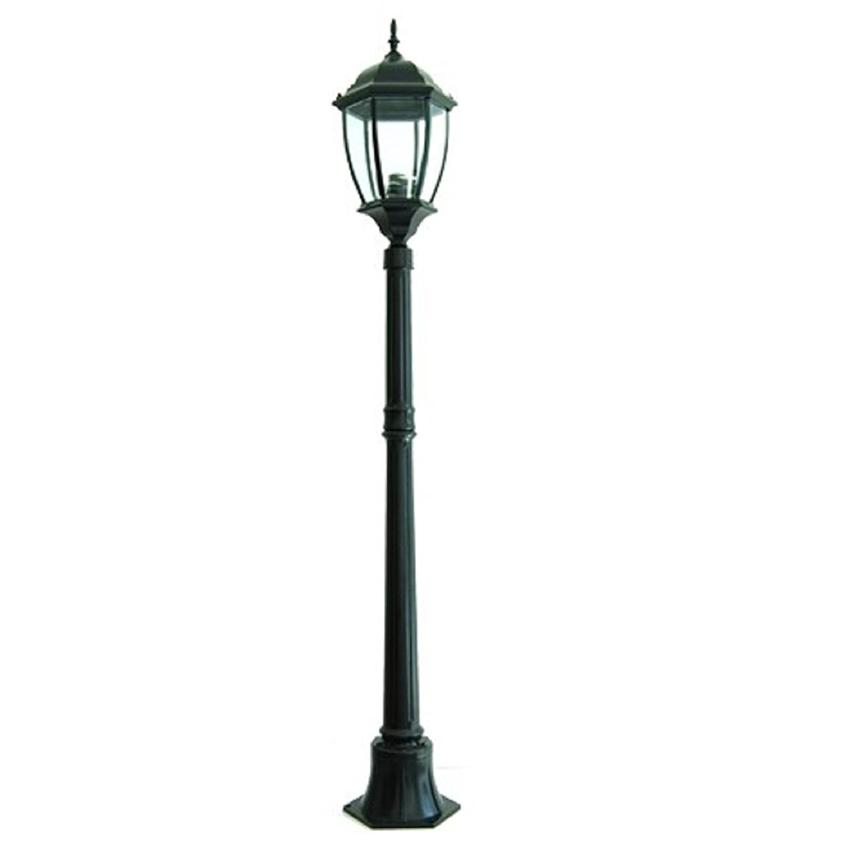 Gartenleuchte New York 1 Licht E27 Außenleuchte Höhe 180 cm IP65 - schwarz Planetitaly