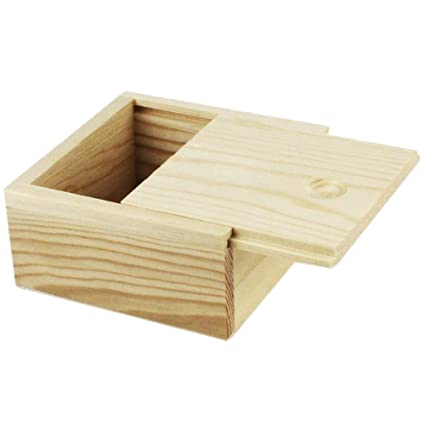 7c0076bdb Amazon.com: Sealive Unique Wooden Jewelry Box Case with Slide Top Trinket  Box Multipurpose Keepsake Storage Boxes Handmade Wooden Box for Women Girls  1pc: ...
