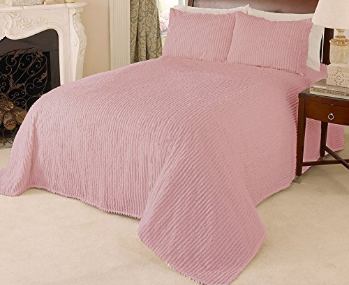 Beatrice Home Fashions Channel Chenille Bedspread