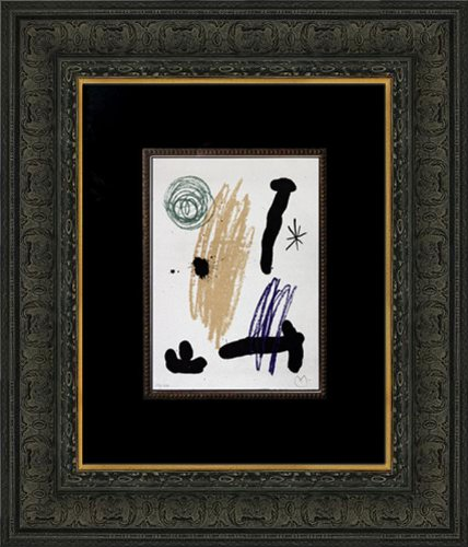 Joan Miro (1893-1983) Original Color Lithograph | Documented | Limited Edition n186; 14/100 Hand Signed & Numbered | Obra In232;dita Recent | Cat. ref: C95 + M356g + B462 | ART183;docs8482; Registered Documentation185; + ART183;care8482; Conservation Framing178; + ART183;sure8482;179; + ART183;pack8482; Deluxe Foam Lined Case8308; -