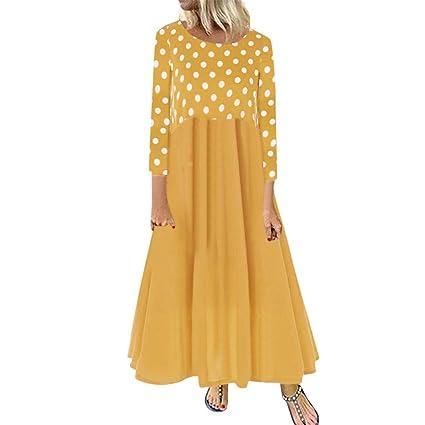 🌷 Vestido de Mujer,Wave166 🌷 Mujer Vestido Elegante Casual Playa ...