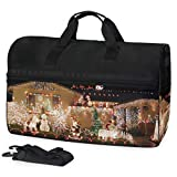 Womens Mens Duffle Bag Christmas Night Beautiful Garden Large Gym Sport Workout Bags with Shoes Compartment