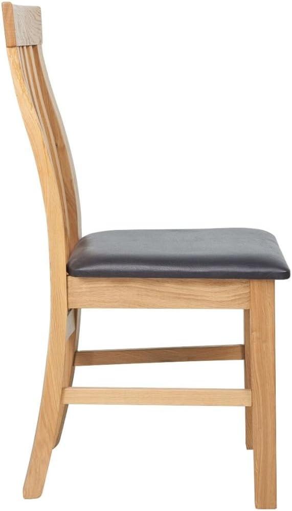 vidaXL Chaises de salle à manger Bois de chêne 6 pcs Cuir