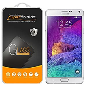 [2-Pack] Supershieldz for Samsung Galaxy Note 4 Tempered Glass Screen Protector, Anti-Scratch, Anti-Fingerprint, Bubble Free, Lifetime Replacement Warranty