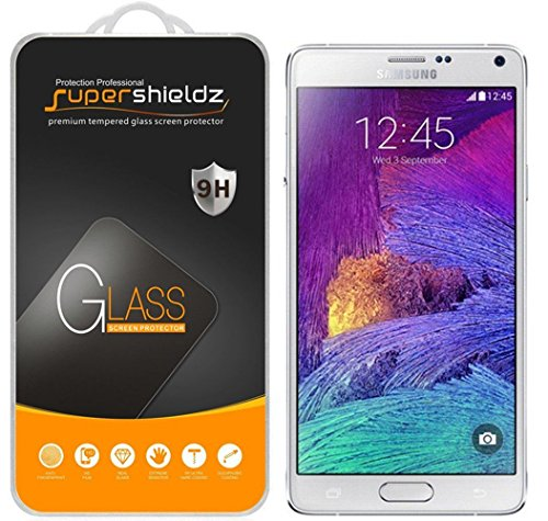 [2-Pack] Supershieldz for Samsung Galaxy Note 4 Tempered Glass Screen Protector, Anti-Scratch, Anti-Fingerprint, Bubble Free, Lifetime Replacement